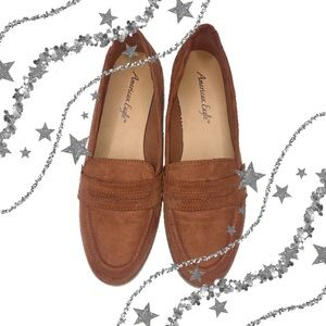 American Eagle Suede Penny Loafers Flats Size